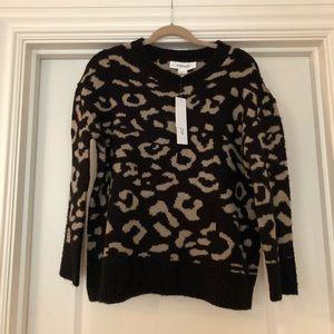 Animal Print Crew Sweater